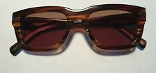 NWT G-Star Raw GS600S Fat Dexter Sunglasses Striped Brown 51 mm