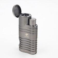 COHIBA Black  Metal 4 Torch Jet Flame Cigar Cigarette Lighter W/ Cigar Punch