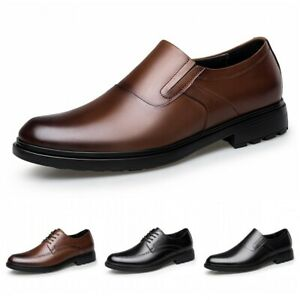 38-47 Mens Business Formal Office Work Shoes Pointed Toe Leather Wedding Pumps L