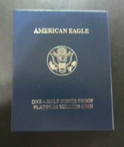 2008-W American Eagle Half Ounce Proof Platinum Coin, Low Mintage, US Mint 8T2