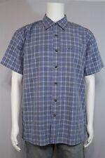 Magellan Sportswear Men's MEDIUM Blue Plaid SS Button Up Outdoor Shirt