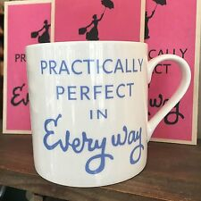 MARY POPPINS FILM PRACTICALLY PERFECT BLUE LARGE BONE CHINA MUG - POST WORLWIDE