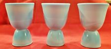 Set/3 McKee Chalaine Blue Double Egg Cup Beautiful Marbling