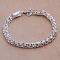 Top sale men women 925Lady silver nice chain Bracelet Jewelry wedding cute gift
