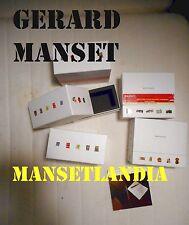 GERARD MANSET █  ★ LOT EXCLU DE 2 BOITES MANSETLANDIA sans cd + 1 LIVRET ★