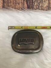 Vintage Rare Levi's Jeans Belt Buckle Pants  Bronze Cowboy Casual Collector