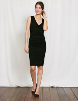 Boden Kleid - Crossover Ruched Dress - Stretch Jerseykleid NEU - UK 8 L EU 36