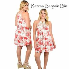 New Ladies Stunning Floral Dress Plus Size 14 1XL (9989)NT