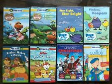 New DVD lot Free Ship PBS Kids Peep Dinosaur Train Caillou Arthur Makes Movie