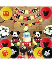 Mickey Mouse birthday party decorations Kids Balloons children Happy Birthday