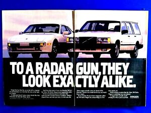 "1988 Intercooled Turbo Radar Gun Looks Same Original Print Ad-8.5 x 11"" 2 page"