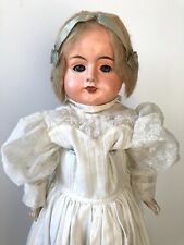 Antique 28� Early Papier Mache Shoulder Head Doll with Sleepy Eyes