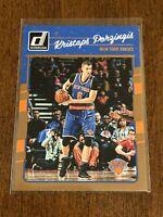 2016-17 Donruss Basketball Base Card - Kristaps Porzingis - New York Knicks