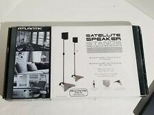 Atlantic Adjustable Height Satellite Speaker Stand Pair In Titanium SPSCUR47 New