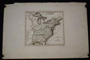 UNITED STATES 1820 LUIGI ROSSI UNUSUAL ANTIQUE ORIGINAL COPPER ENGRAVED MAP