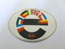 ADESIVO AUTO anni '80 originale / Old Sticker EUROPA GULF (cm 13 x 9) b