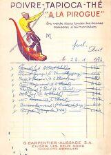 "Invoice - "" La Dugout "" Pepper, Tapioca, Tea to Aubervilliers"