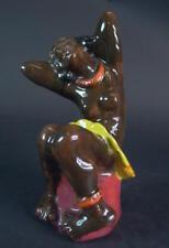 negrides Mädchen -  figürliche Keramik - Monogramm SA