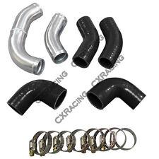 Radiator Hard Pipe Kit For LS1 LSx 240SX S13 S14 Swap Black Hose