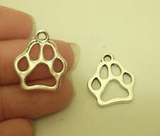 10 dog paw charms pendants tibetan silver antique jewellery making wholesale