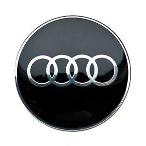 4x 65mm Rad aufkleber embleme schwarz für Audi radkappen nabenkappen nabendeckel