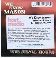 (BI283) We Know Mason, Wee Small Hours - 2009 DJ CD