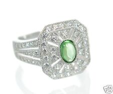 Esposito Diamonique Solid 925 Sterling Silver Vintage Style Ring Sz-6 '