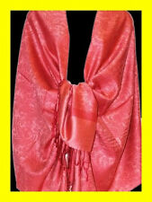 2PLY Solid Paisley Pashmina Silk Cashmere Wool Shawl Scarf Stole Wrap Jacquard