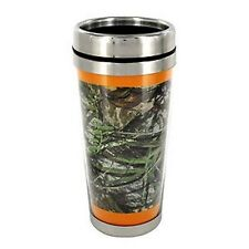 Mossy Oak® Obsession CAMO with Orange Trim Stainless Steel Travel Mug Camouflage