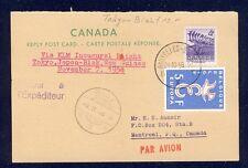 45688) KLM Polar FF Tokio - Biak 7.11.58, reply card AK ab Canada RR!