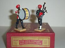 Britains 00268 17th Loyal Purbiah Band Bass Drum & Piper 1/32 Toy Soldier Set