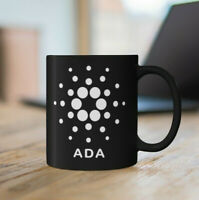 Cardano Black Mug, Black Crypto Fan Coffee Cup, 2 Sided Cardano ADA Gift Mug