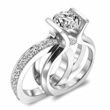1.90ct Round Vss1/D Diamond 10K Gold Over Changeable Bridal Set Engagement Ring