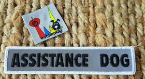 NEW assistance dog  Reflective sew on patch