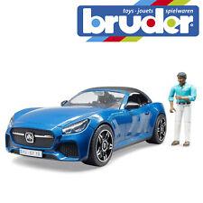 Bruder Bruder Roadster & Driver Kids Toy Sports Car Children Motorcar Scale 1:16