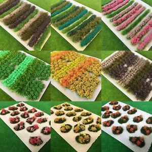 S-P Flowers & Bushes Mix/ Flower Bush & Hedge Strips - Model Scenery Dioramas