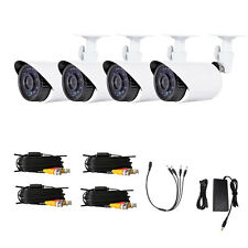 4PCS 1/3CMOS 1300TVL Outdoor Outdoor CCTV Security IR Cameras + 4X 60FT Cables