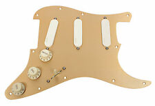920D Custom Shop EMG-SA Ivory EXG SPG Loaded Pickguard on Fender Anodized Gold