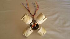 (4 Piece) Light Fixture 4Pin 26W-42W CFL Threaded Lamp Socket GX24Q-3 (G24Q-3)