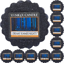 10 YANKEE CANDLE Dreamy Summer Nights TARTS WAX  MELTS fresh scent