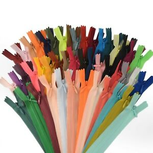 63 Colors Invisible/Concealed Zips 8/10/12 inch 20/25/30 cm 'BUY 5, GET 5 FREE'