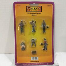 MTH RAIL KING 30-11058 6 PIECE FIGURE SET MINERS FIGURE PEOPLE New In Packs