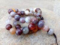 8 mm Genuine Round Botswana Agate Beads - Grade A + - 1 mm Hole