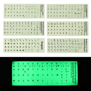 Multi-language Luminous KEYBOARD STICKERS For Keyboards Notebook Desktop STICKER