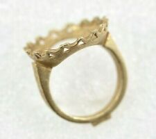 14k Ring Setting  - Unfinished Cast Yellow Gold Ring Blank - 4.8 Grams