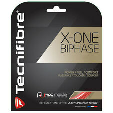 TECNIFIBRE X-one Biphase Tennis Stringa - 12m - 1,24 mm / 17g-ROSSO-gratis UK P & P