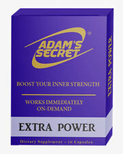 ADAM'S SECRET Extra Power Boost Your Inner Strength Naturally! 10 Pills Pack
