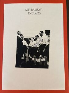 Alf Ramsey- England Footballer Signed Picture