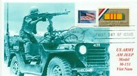 AM General JEEP Vietnam War Photo Cachet US Army First Day of Issue Postmark