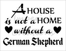 """GERMAN SHEPHERD HOME"" House Dog Breed 8.5"" x 11"" Stencil Plastic Sheet NEW S287"